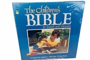 The Childrens Bible Cassettes Book Audiobook Stories Sealed 1987 Peter Pan Vtg