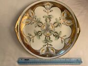 Antique Noritake China Two Handle Serving Plate M Green Mark Made In Japan 10.5