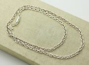 Milor Sterling Silver 4.6mm Textured Cable Oval Rolo Link Chain Necklace 24