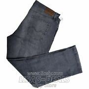Mens Urban Star Jeans Denim Relaxed Fit Pants Blue Grey 30 32 34 36 38 40 42 44