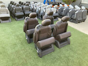 Set Of 4 Brown Leather Captain Seats For Sprinter Van Rv Motorhome Conversion