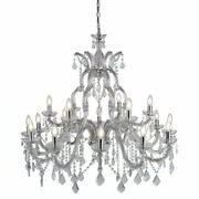 Searchlight Marie Therese 18f Lammiger Lustre Chrome Clair Cristal