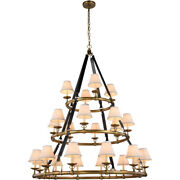 Equestrian With Shades Horseshoe Brass Chandelier Rustic Farmhouse 24 Light 61