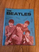 The Beatles 1964 Blue Notebook Binder In Ex Cond Usa Standard Plastics Products