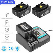Charger For Makita W/ 2pc Battery 18v Lithium Rechargeable Replaceable Tools