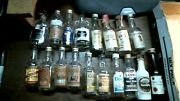 Vint. Mini Liquor Bottle 18 Total All Diff. Rum All Glass Empty Free Priority A