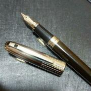 Dupont Fountain Pen Olympio Black Lacquer Gold Discontinued Rare Used