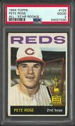 1964 Topps Pete Rose All Star Rookie 125 Fresh Psa 2 Good 2nd Year Reds