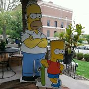 Vintage Homer And Bart Simpson 2002 Advertising Signs
