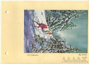 Vintage Snow Shoes Skiing Hiking Evergreen Trees Winter Christmas Greeting Card