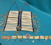 Antique Native American Hairpipe Breastplate Shells Hubbell Beads W Choker