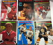 Lot Of 6 Vintage 1970's Sports Illustrated Magazines Bobby Orr, Dryden And Ali