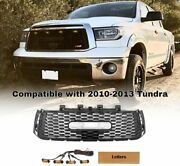 Replacement Grille Trd Pro Style Front Hood Grill For 2010-2013 Tundra W/letters