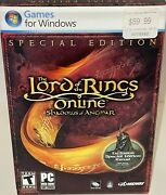 Lord Of The Rings Shadows Of Angmar Special Edition Pc Ntsc Medium Box New