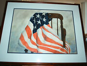 Us Flag Watercolor Painting By R. Heath