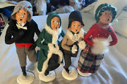 Byers' Choice The Skaters 1991 Traditional Adults Lot Of 4 Signed