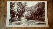 1890's Antique Cabinet Card Graphoscope Photo - Dovedale Staffordshire