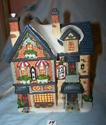 Lighted 2001 Ceramic Mark's Antiques Building-christmas-lot 14