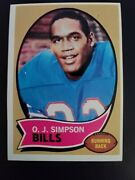 1970 Topps O.j. Simpson The Juice Rookie Card 90 Mint Condition