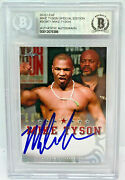 Mike Tyson Signed Leaf Trading Card Semt1 Beckett Bas Authentic