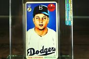 1954 Tommy Lasorda Dodgers Rookie Rc Sealed Tobacco Card