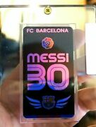 2004 Messi Rookie Rc Soccer Card Holographic Tobacco Card Fc Barcelona Sealed
