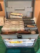 Full Plano Tackle Box Loaded With Lures Rapala Spinner Worms Vintage Lures