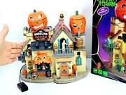 Lemax Spooky Town Ghoulish Gourd Pub Grill Halloween Animated House Retired 2020