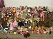Barbie Lot Of 60 Dolls Vintage Rare Collectors Items Antique And Accessories
