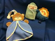 Lot Of 3 Vintage Fisher Price Baby Toys 422 Peek A Boo Baby- 1404 Bear And 446