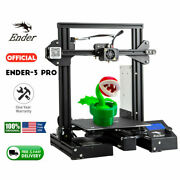 New Creality 3d Ender-3pro 3d Printer Meanwell Power / 4 Rolls Pla Filament Us