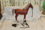 Vintage Louis Marx Johnny West Horse Wheeled Sorrel Thunderbolt With Accessories