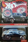 Hotwheels Club Excl. 2006 Club Car And03955 Chevy Bel Air Gasser Black Red And Blue