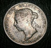 Old Canadian Coins Keydate 1886 Canada Silver Twenty Five Cents