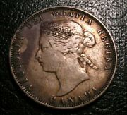 Old Canadian Coins 1874 H Canada Silver Twenty Five Cents