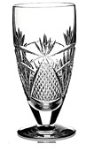 New Waterford Crystal Seahorse Iced Tea Footed Tumbler Nouveau Ireland 6.5 New