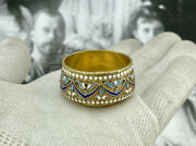 Antique Russian Faberge Silver Cup With Enamel 1899-1908. Bargaining - Welcome