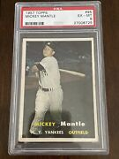 1957 Topps Mickey Mantle 95 Psa 6 High-end Beautiful Centering Yankees