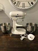Kitchenaid Custom Mixer Model Ksm5pswd With Two Bowls And Attachments