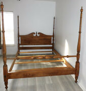 Mint Condition Ethan Allen Heirloom Tall Poster Bed Queen 10-5622-211 Vtg Rare