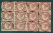 Sg 48 Andfrac12d Rose Plate 15. Unmounted Mint Block Of 12 Cat Andpound2100