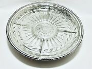 Stunning Vintage Wm Rogers Lazy Susan Silver Plate With Glass Insert