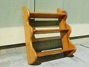 Vintage 1955 Solid Wood Hanging Shelves Maple Open Knick Knack Country Curio