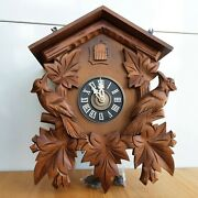 Vintage West Germany Cuckoo Clock 12x10 For Parts Or Repair Coo Coo