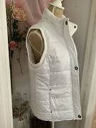 Jason Maxwell White Quilted Puffer Vest Size Large Nwt