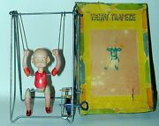 Henry Trapeze Celluloid Wind-up Toy Small Size In Original Box Japan Circa 1934