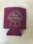 Vintage Pbr Koozie Pabst Blue Ribbon Beer Pint Coozie Foam Can Cooler A598