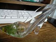Clear Acrylic Water And Flower Filled Shoe Figure Decoration High Heel With Bow