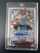 1/1mike Schmidt 2021 Bowman Nscc Topps National Convention Silver Refractor Auto