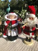 Vintage Rennoc And Telco Motion-ette Mr And Mrs Santa Claus Electric Christmas Decor